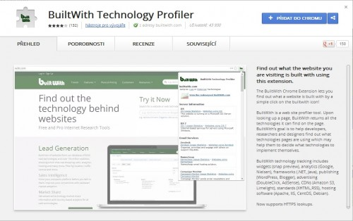 BuiltWith Technology Profiler