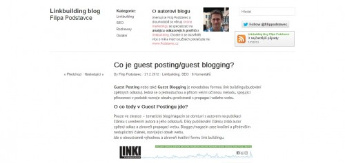 Co to je guest posting/guest blogging?