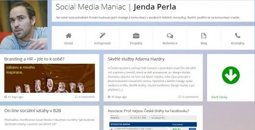 Printscreen JendaPerla.cz