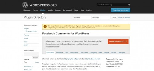 WordPress Facebook Comments