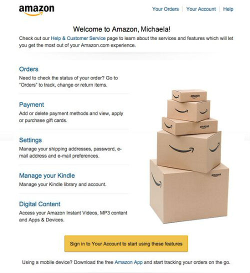 amazon welcome mail1