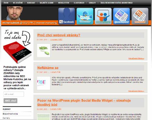 Screenshot MichalKubicek.cz