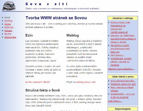 Screenshot Sovavsiti.cz